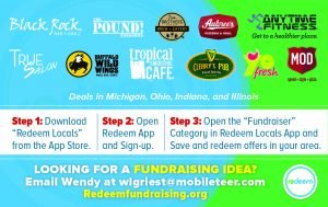 redeem fundraising, fundraising made easy, local deals